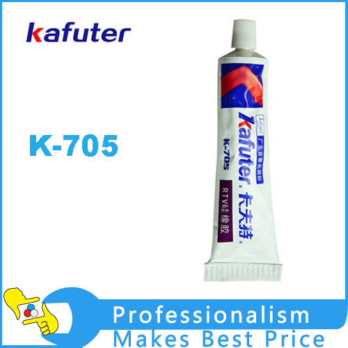 2pcs Genuine Kafuter k-705 Sealant Transparent Organosilicon 45g RTV Silicone Rubber Ele ...