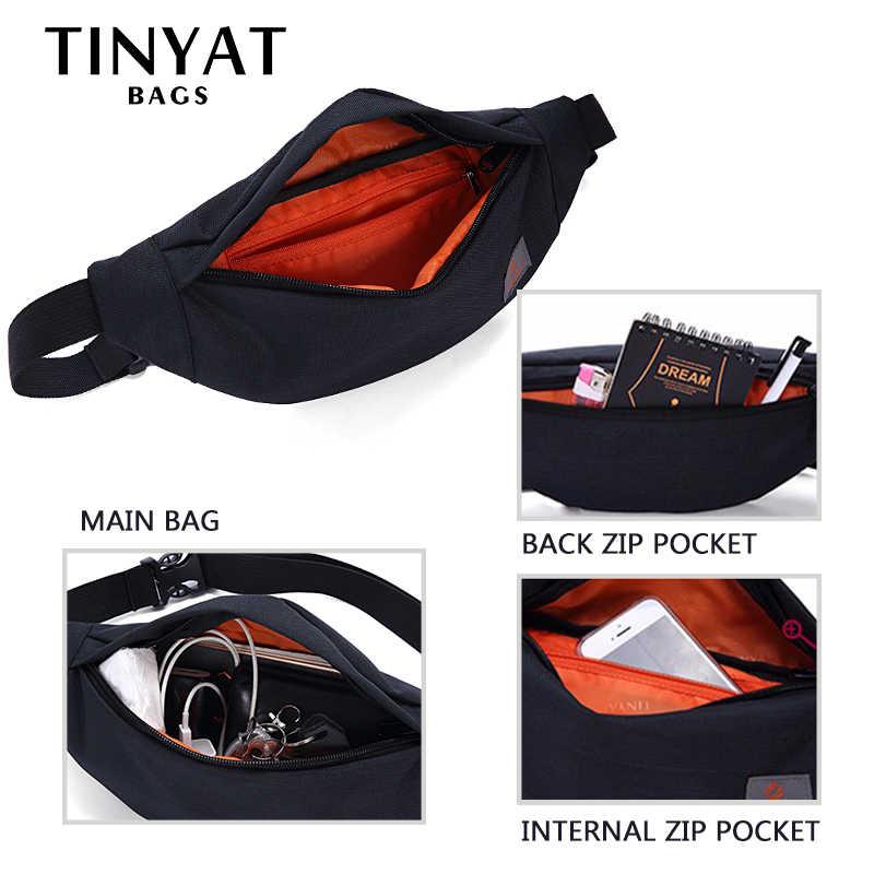 Мужская поясная сумка TINYAT, повседневная холщовая сумка-пояс, женская сумка на пояс для хранения телефона, денег, черная сумка на бедра серого цвета сумка на пояс поясная сумка бананка барсетка riñonera сумка поясная