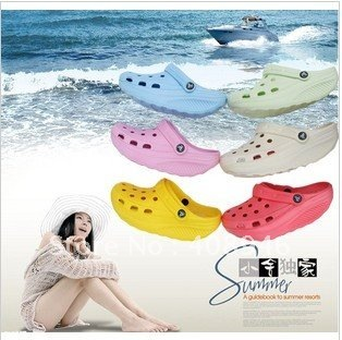 120044  Slippers Garden shoes  women sandals slippers colorful shoes