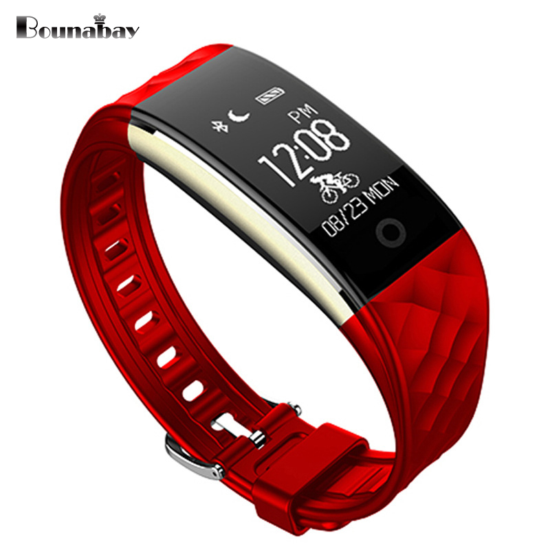 BOUNABAY Smart Bluetooth Bracelet watch for women touch screen watches Android ios phone ladies waterproof clocks lady 3g clock dm98 smart watch gps wifi waterproof sim card mp3 music bluetooth answer call for android ios phone sport fitnesstracker watches