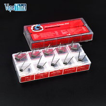Vapethink electronic cigarette coil prebuild 10 in 1 mini combo x10 wire coil 10 types vape DIY For Vaporizer rda atomizer