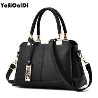 YASICAIDI Fashion Pu Leather Women Handbags Famous Designer Vintage Tassel Black Women Messenger Bags Ladies Shell