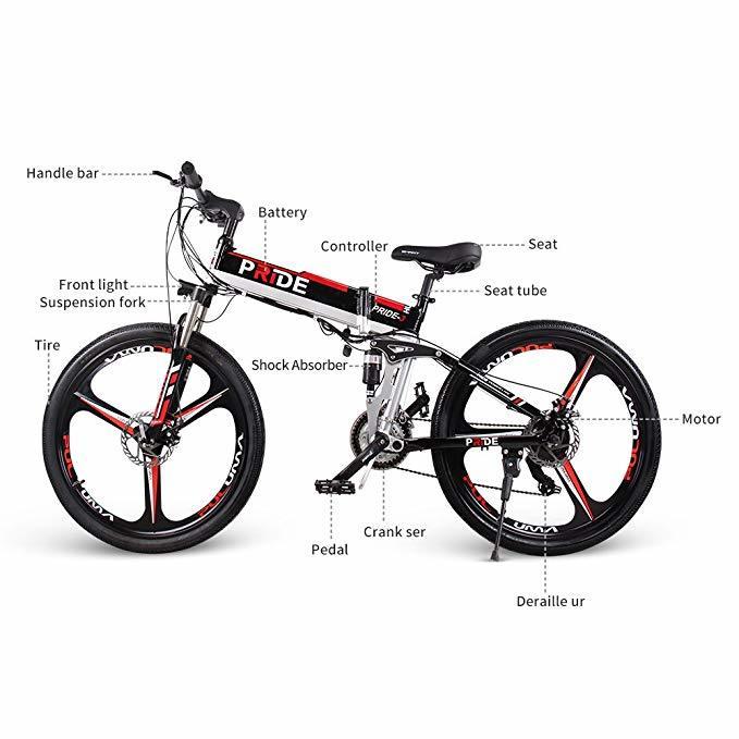 Electric Bike 26inch Aluminum Folding Electric Bicycle 500w Powerful 48v12.5a Lithium Battery E Bike Snow /mountain/city Ebike