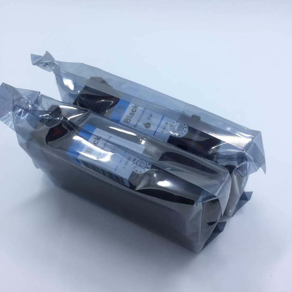 YOTAT 2 pcs cartouche d'encre Réusinées pour hp 51640 hp40 pour hp Designjet Série 230 250c 330 350c 430 450c 455ca 488ca 650c