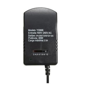 Image 3 - LEORY DC3 12V 可変電圧電源アダプタユニバーサル AC アダプタ 2.5A 30 ワット 3 V 4.5 V 6 V 7.5 V 9 V 12 V 6 · イン · 1 電源充電器