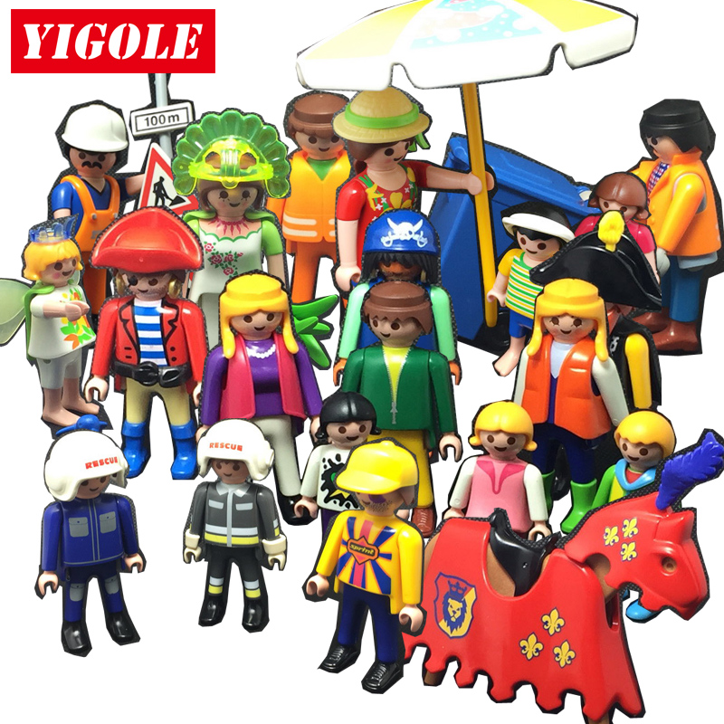 Playmobil Action Figures Set toy Summer Fun City Life Farm Funs Park Playmob Models Kids Toys Gift first sticker activity for boys
