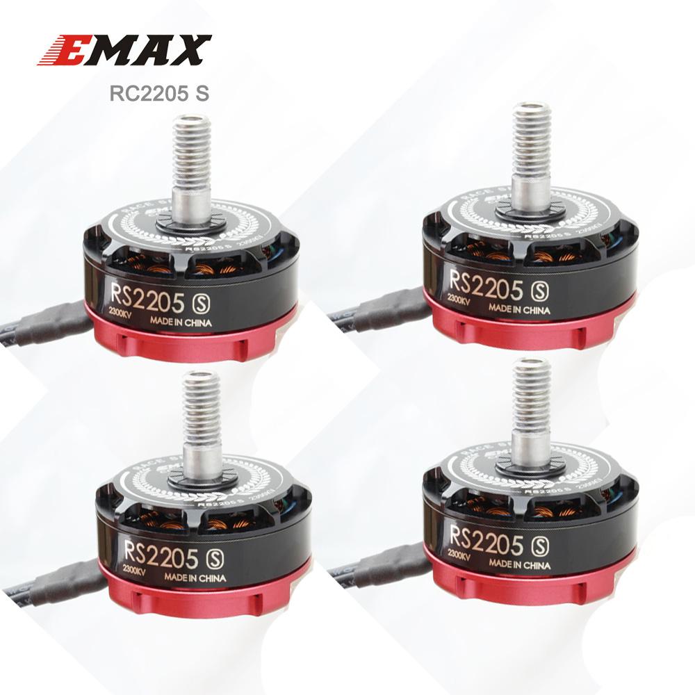 4PCS EMAX Original RS2205 S Brushless Motor For FPV Racing Quad 2300KV/2600KV RS2205S RaceSpec