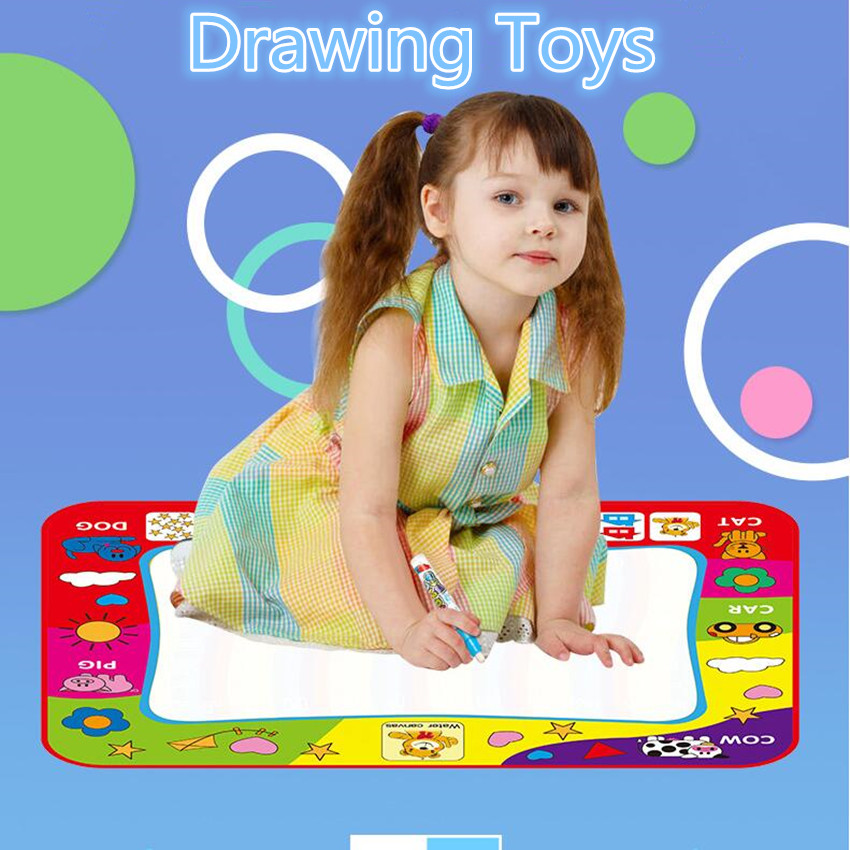 Education Toy Water Painting Mat Drawing Cloth New Graffiti Animal Kids Magic Flooring Noodle Men