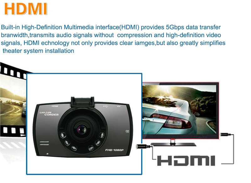 QUIDUX Dual lens G30 Car DVR Camera HD 1080P Video Recorder DVRs Night Vision Auto Dash cam Veicular Kamera two cameras Logger 9
