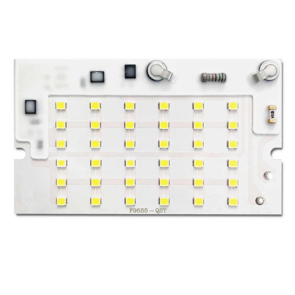 5 sztuk/partia LED 2835 SMD CHIP 10W 20W 30W 50W 100W AC220V z inteligentnym układem scalonym światła koraliki dla DIY reflektor lampa zewnętrzna