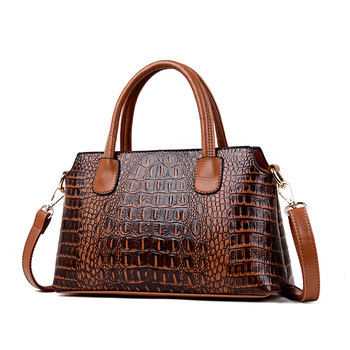 2019 New Luxury Handbags Women Bags Designer Brand Famous Alligator Women Leather Handbags Satchel Tote Bags Sac A Main Femme vintage hand tote shoulder crossbody women messenger bags handbags famous designer brand female bolsas sac a main femme hot sale