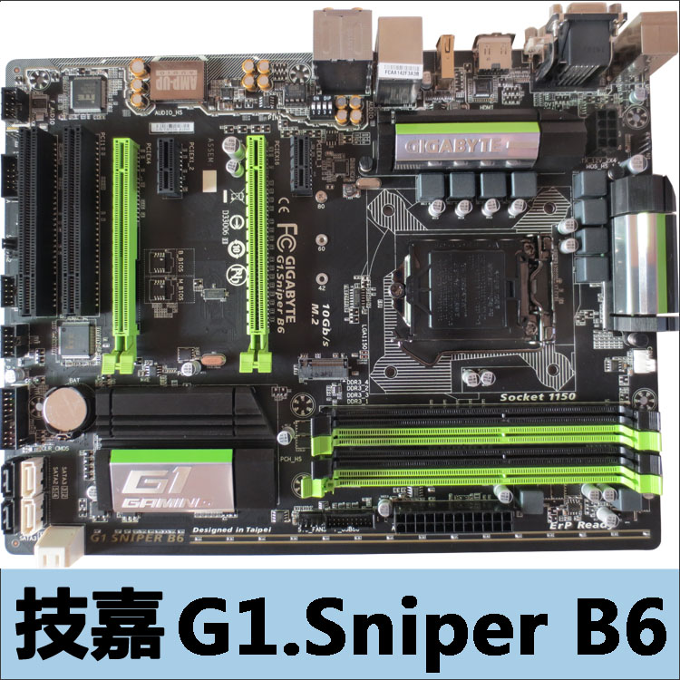 Gigabyte G1.Sniper B6 Gigabyte motherboard B85 magic sound big board B6 game motherboard lucky john croco spoon big game mission 24гр 004
