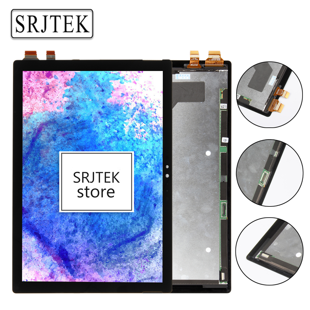 Srjtek Parts 12 3 For Microsoft Surface Pro 4 1724 LCD Screen Matrix Touch Digitizer Display