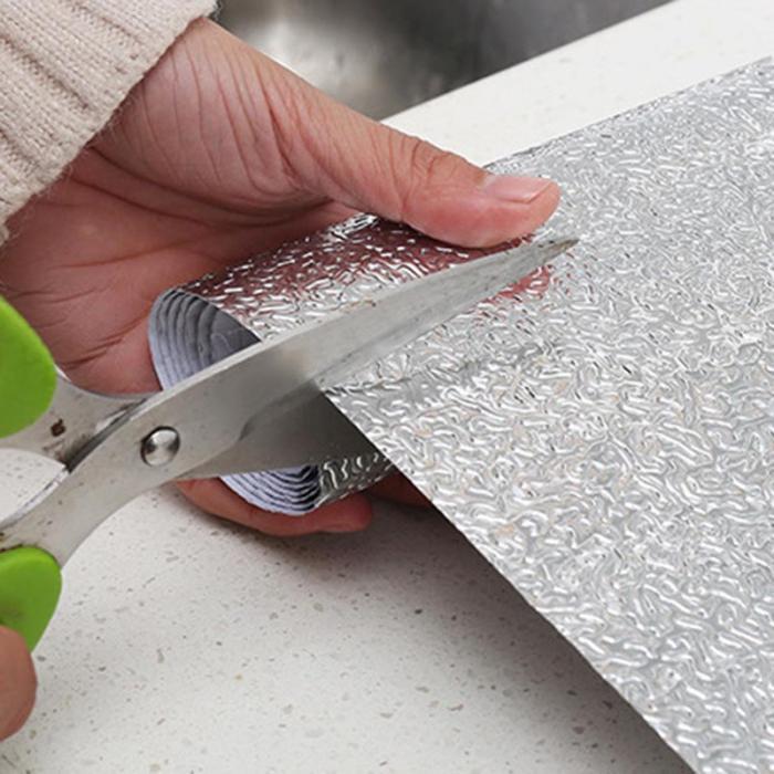 Многофункциональная Настенная Наклейка для кухни из алюминиевой фольги, водонепроницаемая Съемная самоклеящаяся маслостойкая Настенная Наклейка LXY9 ST05