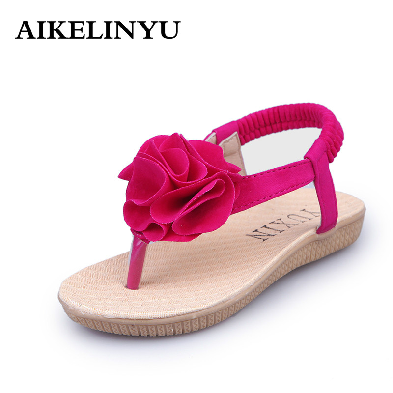 AIKELINY 2017 Children shoes girls Summer Fashion Flower ...