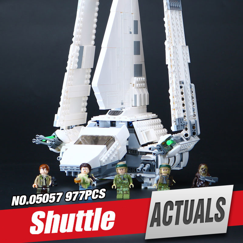 LEPIN 05057 Star Series wars Shuttle set Tydirium Building Blocks Bricks Assembled Toys Compatible with legoing 75094 for Gifts lepin 05057 977pcs star series war new the legoing the fighting shuttle set model building kit blocks bricks toy gift with 75094