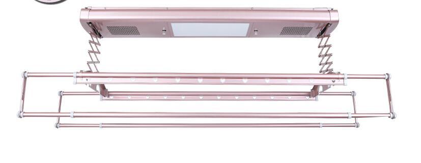 Séchoir électrique commande vocale télécommande intelligente ascenseur balcon plafond automatique télescopique séchoir - 2