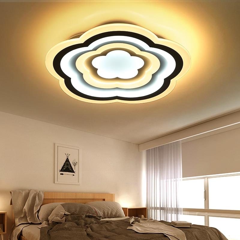 new concept 3798f 9d7d2 US $168.0  Led slim living room Ceiling Lights minimalist modern the latest  creative atmosphere master bedroom lamp wedding room LU808139-in Ceiling ...