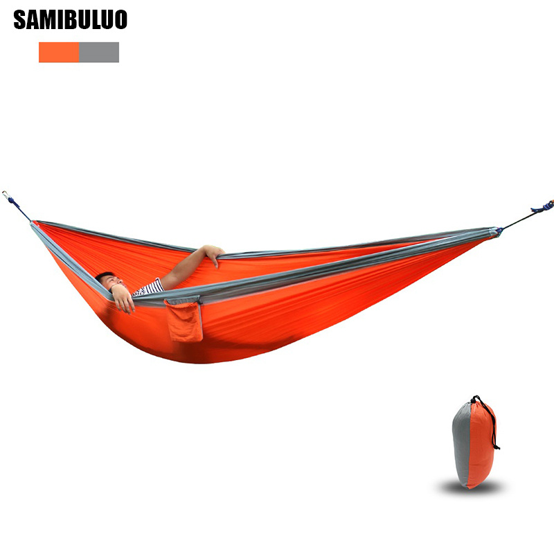 Assorted Color Parachute Nylon Hammock Outdoor Camping Hammocks Double Person Portable Swing Hammock
