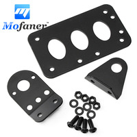 Metal Axle Side Mount Scooter Moped License Holder Plate Motorcycle Number Plate Rear Taillight Bracket Black