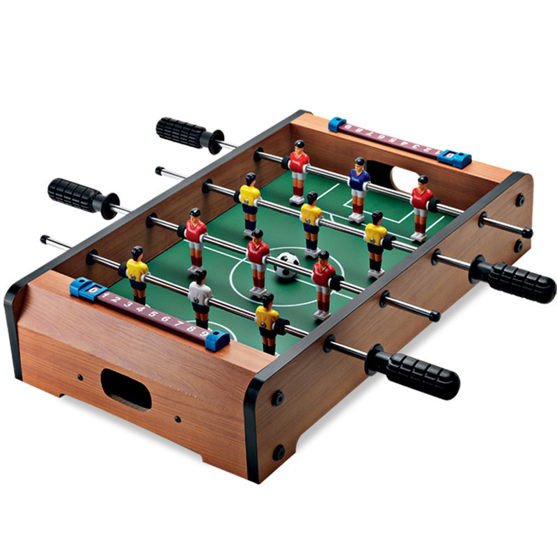 ALHGWJ14 Wooden table football bar entertainment game table children home parent-child interaction game kid gifts hot sell desktop manual indoor football machine parent child sports interactive toys table ball game machine