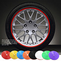 Car Wheel Hub Sticker 8M/Roll Car Decorative Styling Strip Rim Tire Protection Auto Accessories