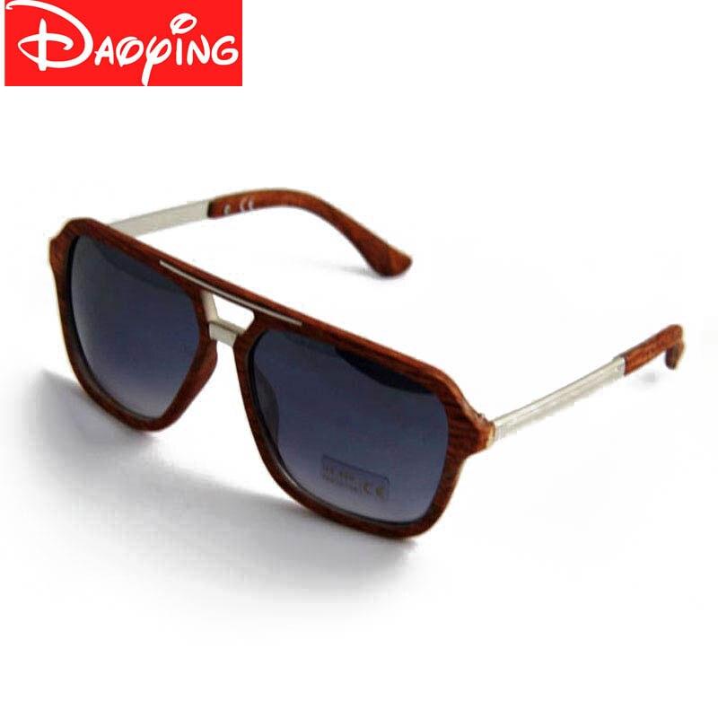 Women Sunglasses Eyewear Wood Brand Design With Transfer Frame DAOYING