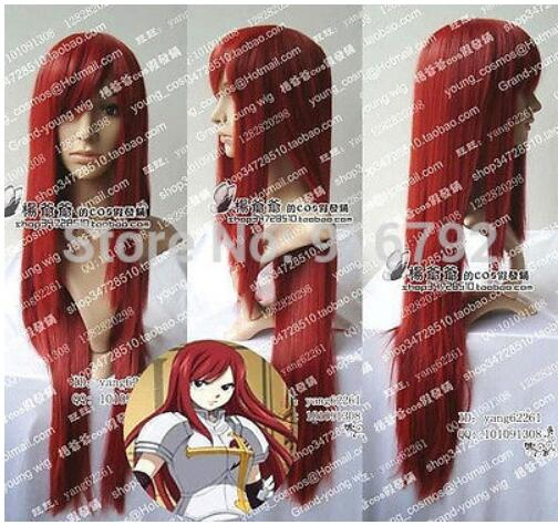 Peruca Cosplay Anime fairy tail (Erza Scarlet) peruca cosplay