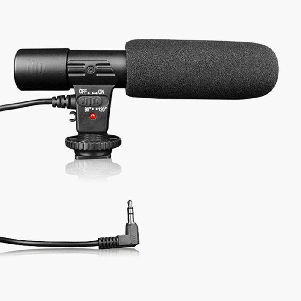 Kraftvoll Mic-01 Slr Kamera Mikrofon Fotografie Video Kamera Stereo Aufnahme Mikrofon Für Dv Digital Slr Kamera Camcorder QualitäT Und QuantitäT Gesichert Unterhaltungselektronik
