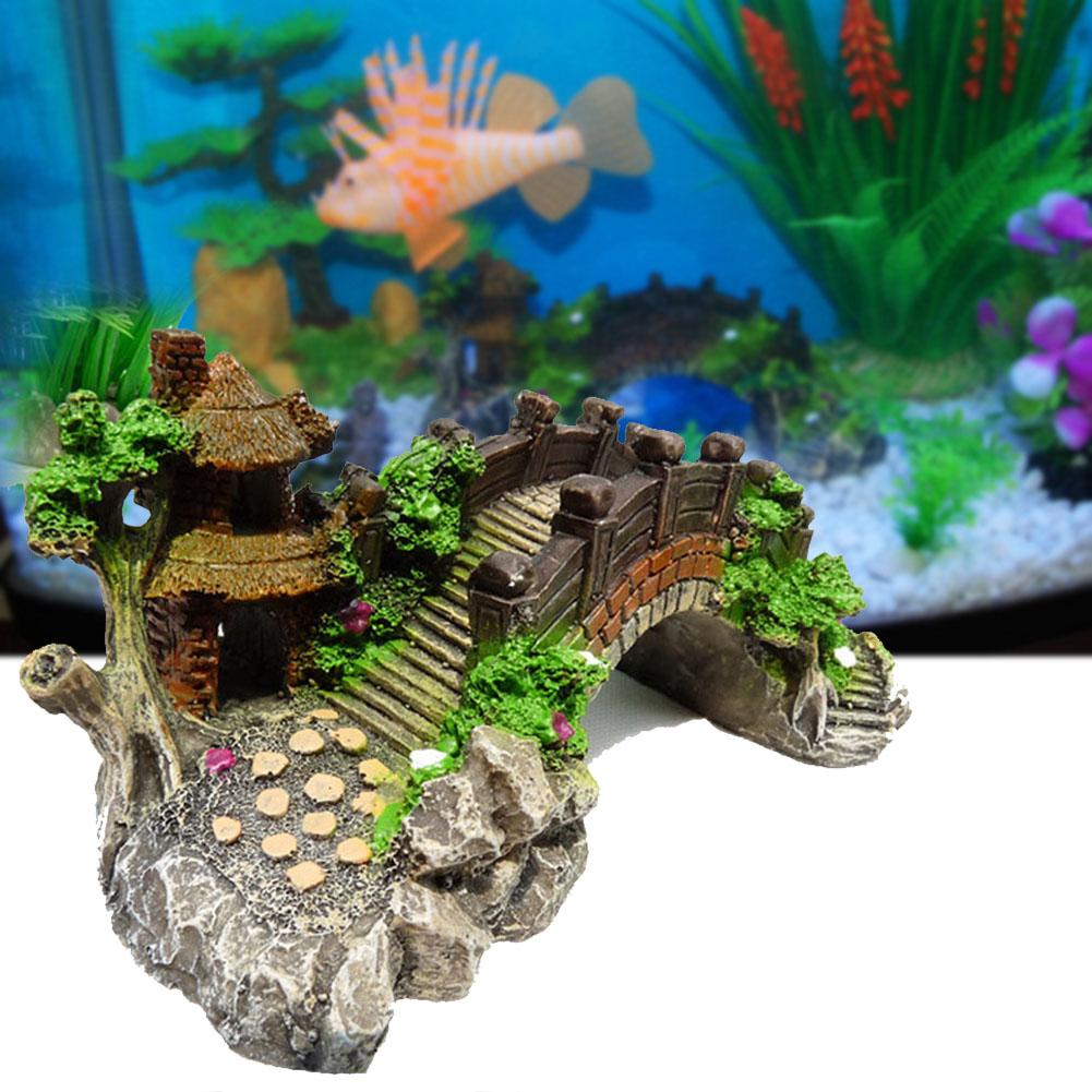 Akuarium Tangki Ikan Hiasan Bebatuan Jembatan Bersembunyi Landscape Decor Dekorasi Lanskap Bawah Air Fish Tank Ornaments Tank Ornamentaquarium Fish Tank Ornaments Aliexpress