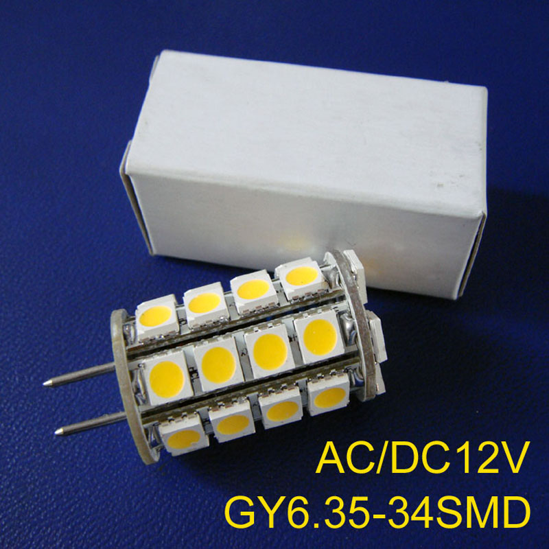 High quality 5050 12v GY6.35 bulbs,G6.35 <font><b>led</b></font> lights,GY6.35 <font><b>led</b></font> Downlights GY6 <font><b>LED</b></font> lamps,12v <font><b>LED</b></font> G6 lamps free shipping 2pcs/lot image