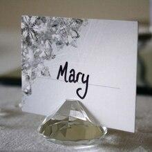 20 шт./лот держатель для карт с бриллиантами Cystal держатель для свадебных карточек держатель для фотографий для свадебной вечеринки украшение стола сувениры