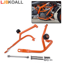 Orange Motorcycle Left/ Right Bumper Front Buffer Crash Bars Protector Frame Engine Guard for KTM DUKE 390 2013 2014 2015 2016
