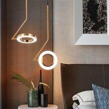 Nordic Designer Lamps Pendant LOFT Bedroom Bedside Restaurant LED Chandelier Lighting Luminaria Bar Brass Kitchen Fixtures