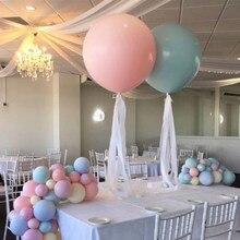 NASTASIA/1 Набор, разноцветные латексные шары в виде макарон, 24 дюйма, воздушные шары с днем рождения, вечерние шары в виде русалки, романтическая атмосфера