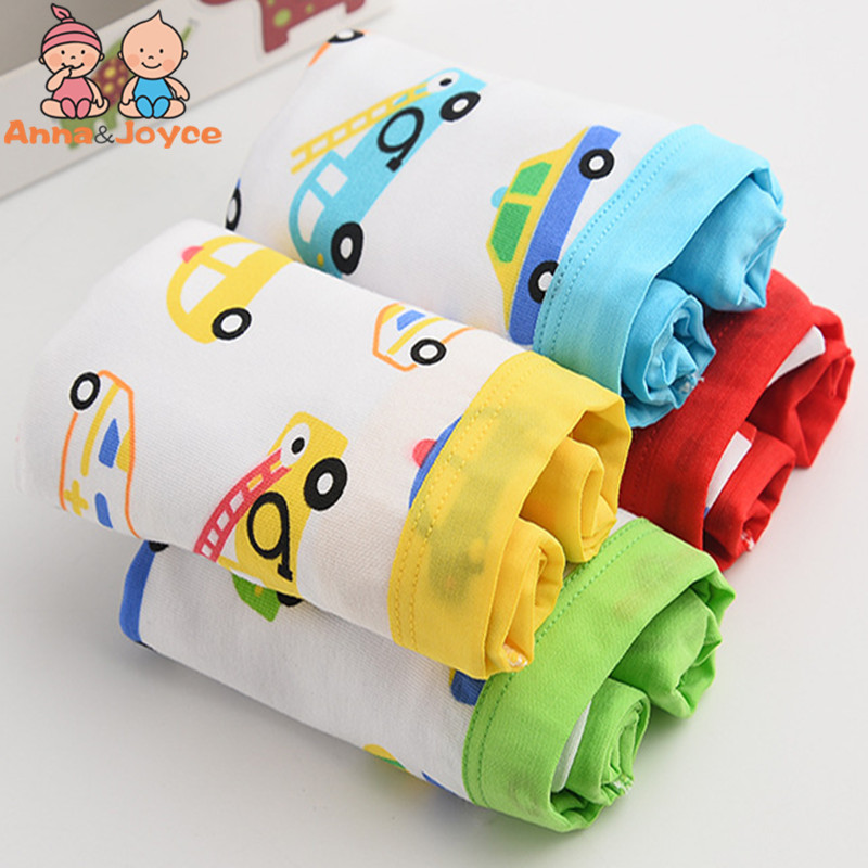 цены 4 Pcs/lot Boys Boxer Modal Underwear Boys Underwear Cartoon Printing Cotton Breathable Pants Kids Shorts HTNM0057