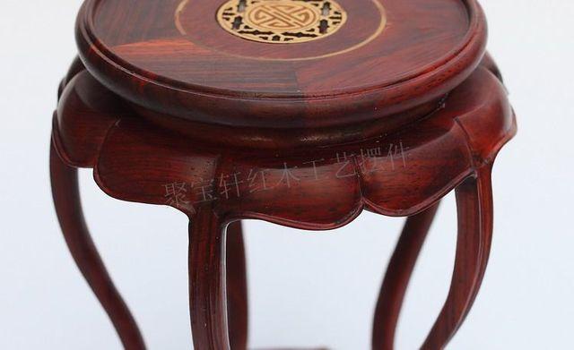 Redwood tallado de madera artículos de tapicería de madera rama rojo ácido base circular de artesanías de piedra especial