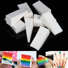 16 sztuk trójkąt Nail Art Transfer gąbka Gradient tłoczenia malowanie DIY miękkie Ombre kolor lakier polski Manicure