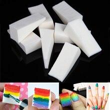 16 uds, esponja de transferencia triangular para arte de uñas, pintura de estampado en gradiente DIY, manicura de barniz pulido de color suave ombré