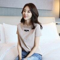 print slim long sleeve t shirt women tops 2018 new YD32
