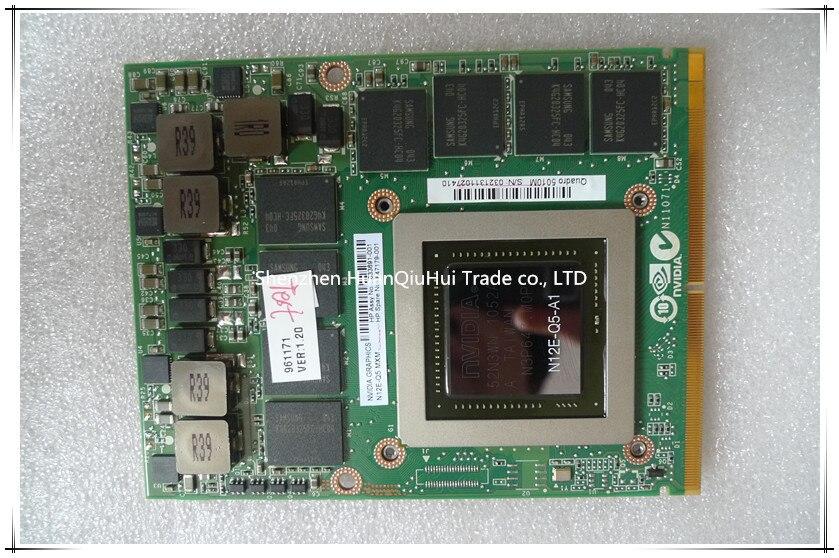 Por atacado Para DELL M6600 NVIDIA QUADRO 5010 M 4 GB GDDR5 Placa Gráfica PLACA de VÍDEO N12E-Q5-A1 completo testado