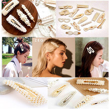 South Korean adults droplets hairpin pearl pin ins bb/bb a word clip to sell like hot cakes