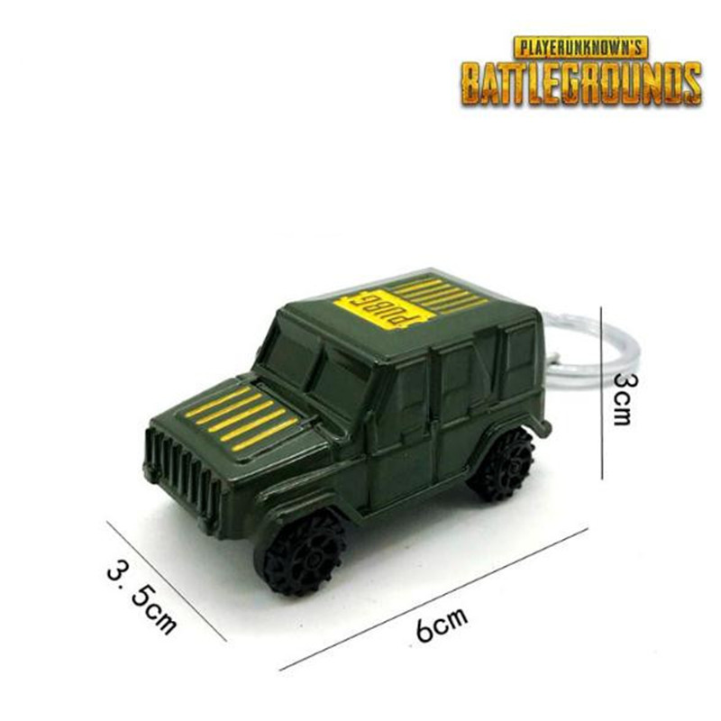 Game PUBG Playerunknown's Battlegrounds Cosplay Key Chain Alloy Mini Car Jeeps Model Christmas Party Halloween Costume For Adult