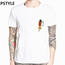 купить Summer Men T Shirt White Tee Shirt Short Sleeve Pocket Design Funny T Shirts The King Lion Print Graphic White Casual Tops 2019 дешево