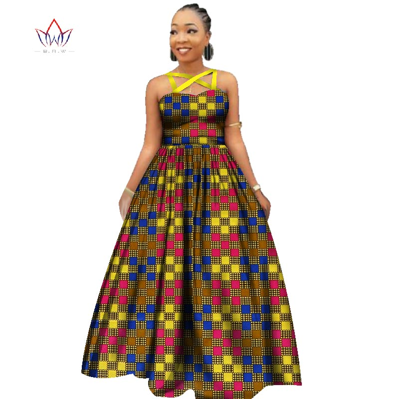 2017 Custom African Nuovo Disegno Sexy Vestiti Da Partito Delle Donne Eleganti Africano Dashiki del Vestito per Le Donne Africa Vestito Lungo 2016 WY2390