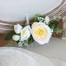 Fashion Greenery Flower Hair Comb Floral Bride Women Accessories for Wedding Ceremony