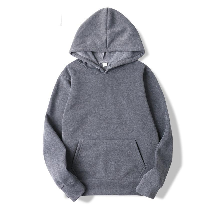 Quality Brand Men Hoodie Autumn Male Hip Hop Street wear Men Pullover Sweatshirts Hoodies Mens Solid Color Hoodie 18