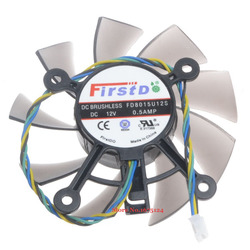 FD8015U12S 75mm DC 12V 0.5A 4 Wire computer cooler Fan radiator for Radeon HD 7770 8600 9800g video Graphics Card cooling