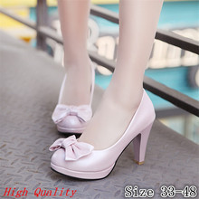 Ladies Pumps Women High Heel Wedding Shoes Woman Thin High Heels Stiletto Kitten Heels Plus Size 33-40.41.42.43.44.45.46.47.48