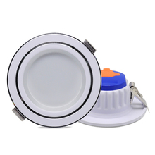 LED Downlight 220V Tricolor Changeable Down Light dimmable Waterproof Recessed Ceiling AC220V 7W Ultra Thin